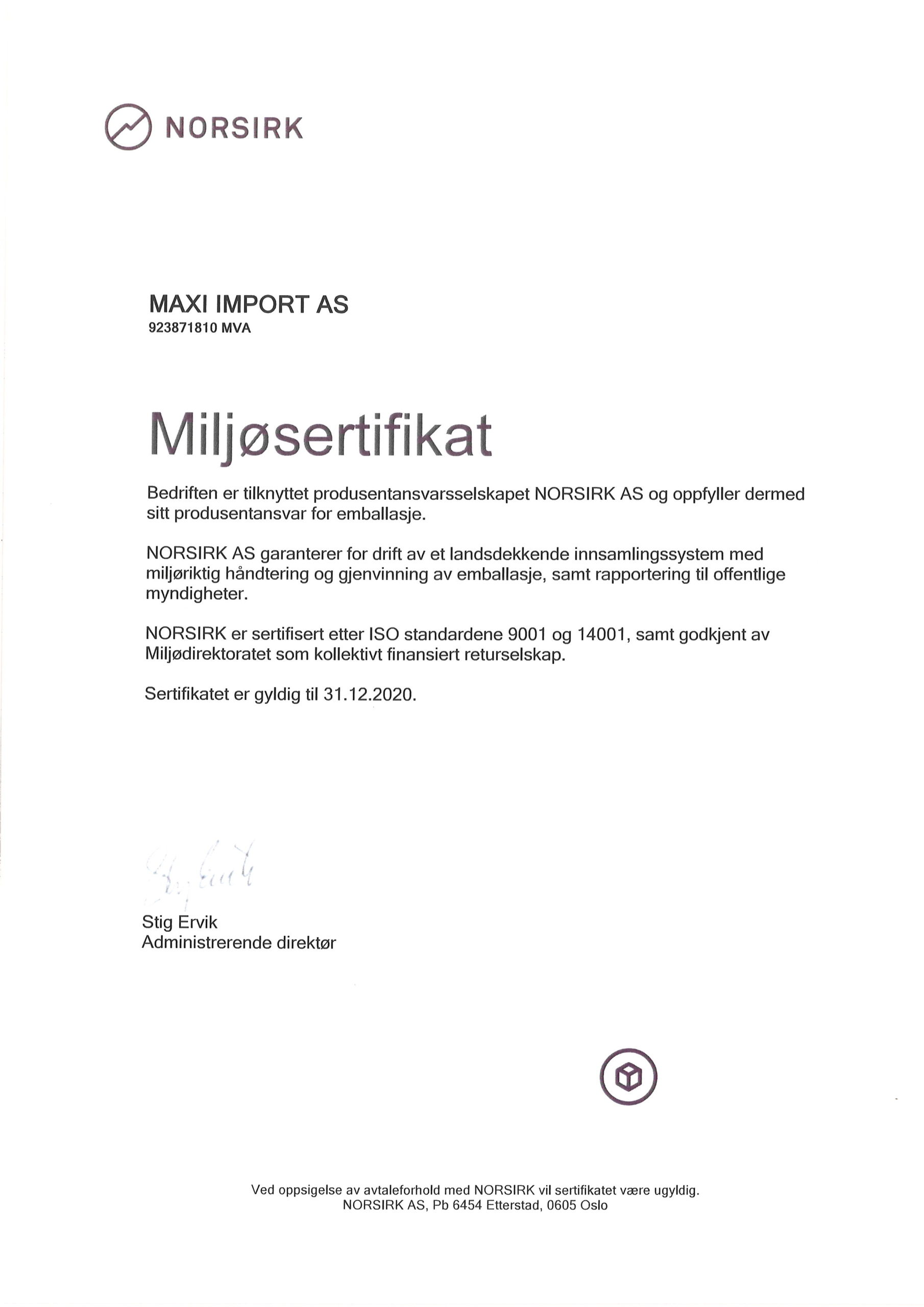 """Featured image for """"Godkjent returselskap – Miljøsertifikat"""""""